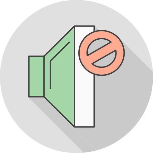 icono de vector mudo