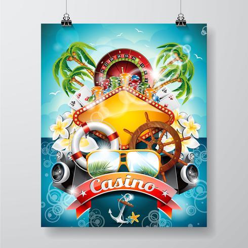 Casino thema illustratie