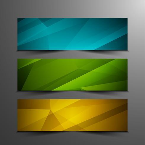 Set di bandiere geometriche elegante colorato astratto