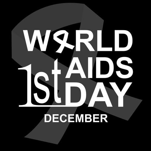 Aids Dag Illustratie Vector