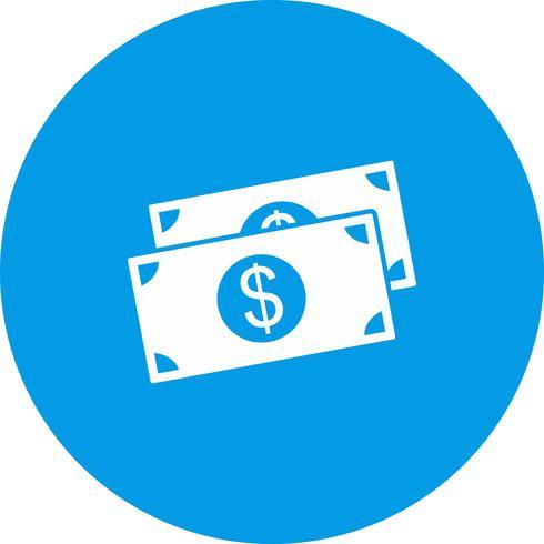 icono de dólar vector