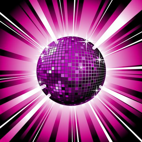 glänsande disco boll