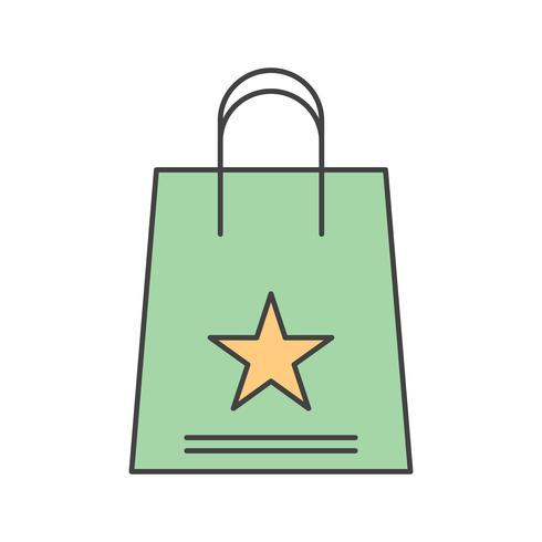icono de bolsa de compras de vector