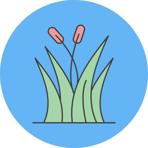 icona di erba vettoriale