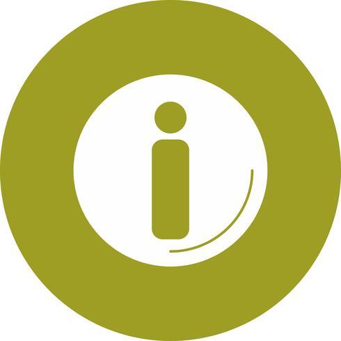 ícone de informação de vetor