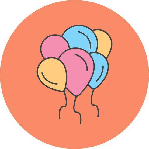 icona di palloncini vettoriale