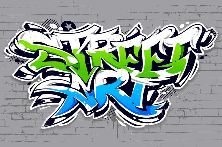 Straßenkunst-Graffiti-Vektor-Beschriftung