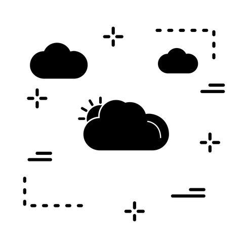 ícone ensolarado de vetor