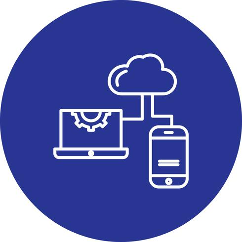 Icono de vector portátil