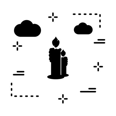 Vektor-Kerzen-Symbol