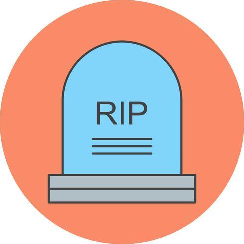 icono de la tumba del vector