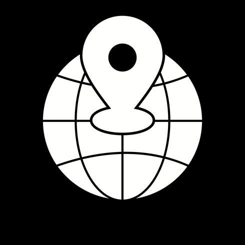 Vektor-Weltstandort-Symbol