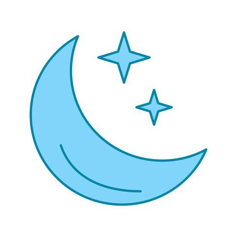 vector moon stars icon