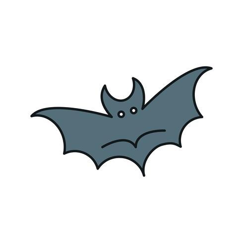 icona di pipistrello vettoriale