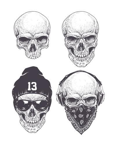 Set de crânes Dotwork