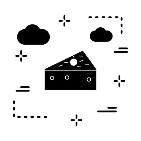 vektor ost ikon
