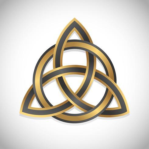 triquetra symbol guld