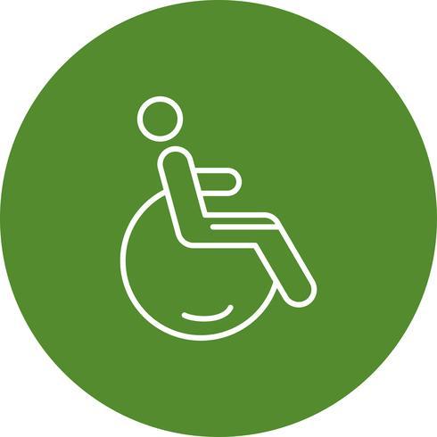 Icône de handicap de vecteur