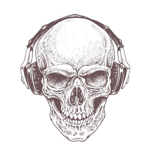 Cranio con cuffie
