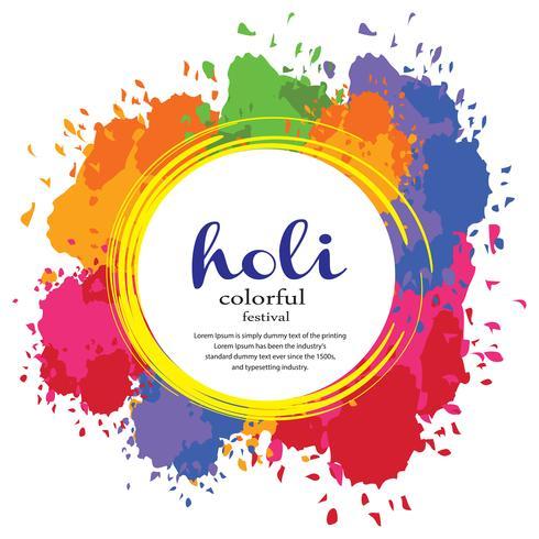 Happy Holi Festival Illustration vector