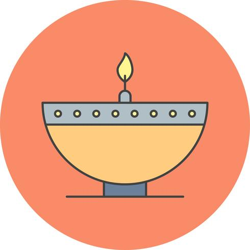 icono de vector diwali lamp
