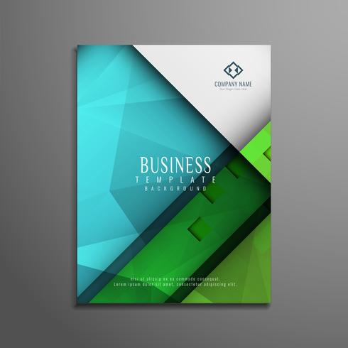 Abstract colorful business flyer design
