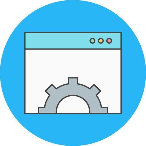 icono de configuración del navegador de vectores