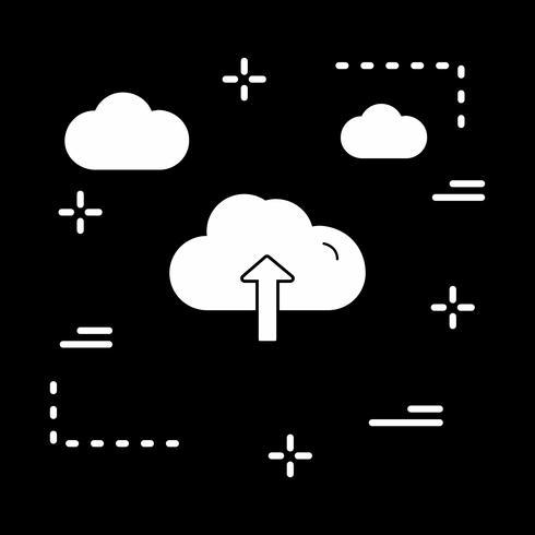ícone de upload de nuvem de vetor