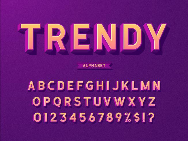 3D Trendy Vet alfabet
