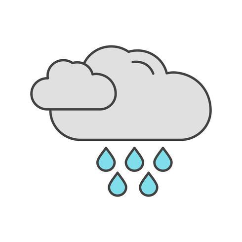 icono de lluvia vector