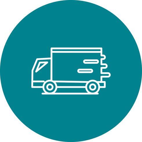Icona del furgone veloce vettoriale