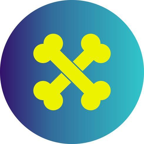 Vektor-Knochen-Symbol
