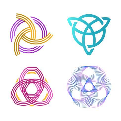 Flache minimalistische Triquetra-Vektor-Illustration