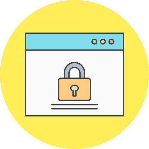 vektor webbläsare lås ikon