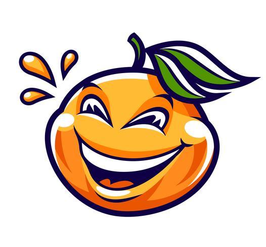 Funny Cartoon Mandarin Vector Character