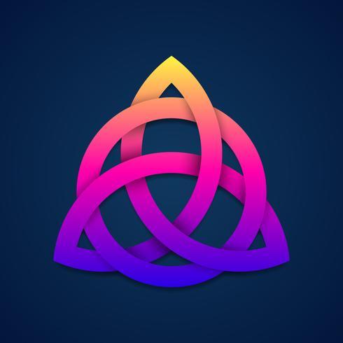 Triquetra buntes Dreieinigkeitsknoten-Wiccan-Symbol für Schutz