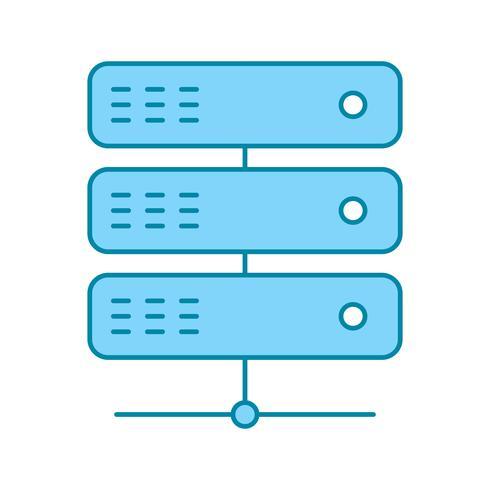 icono de servidor de vectores