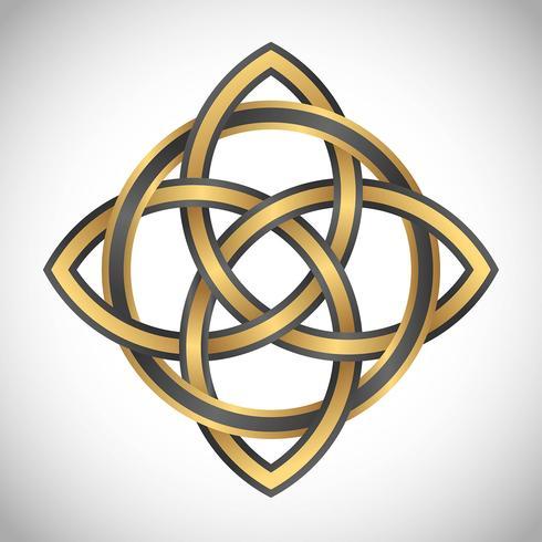 Triquetra-Symbol-Goldquadrat
