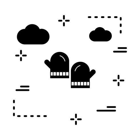 icono de guantes vectoriales
