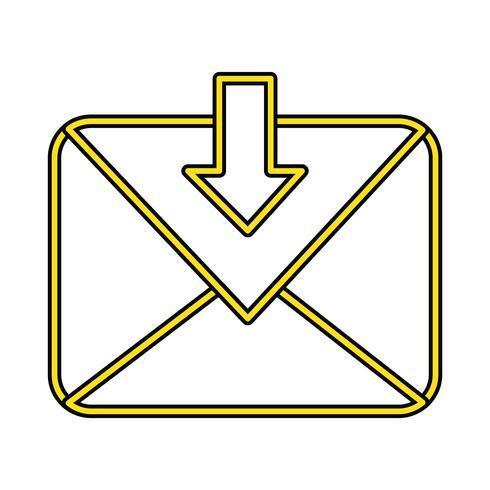 Message parfait icône vecteur ou illustration de pigtogramme dans un style rempli