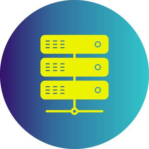 icône de serveur de vecteur