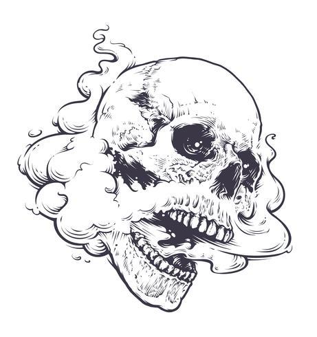 arte del cráneo vaping