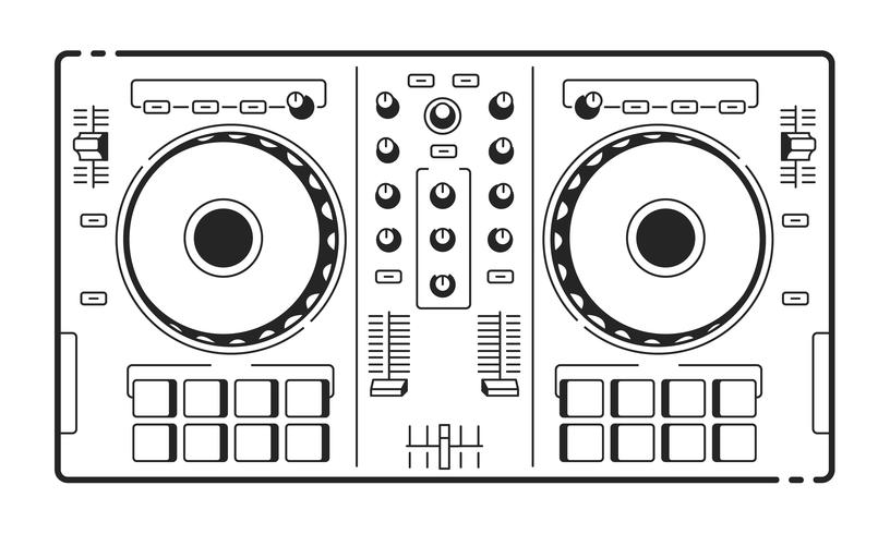 DJ Usb Controller vector