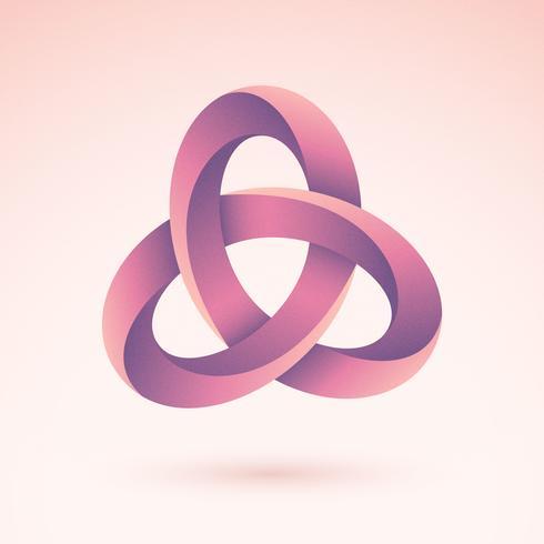 Symbole vecteur 3d triquetra