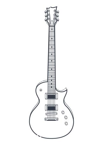 Vecteur de guitare électrique