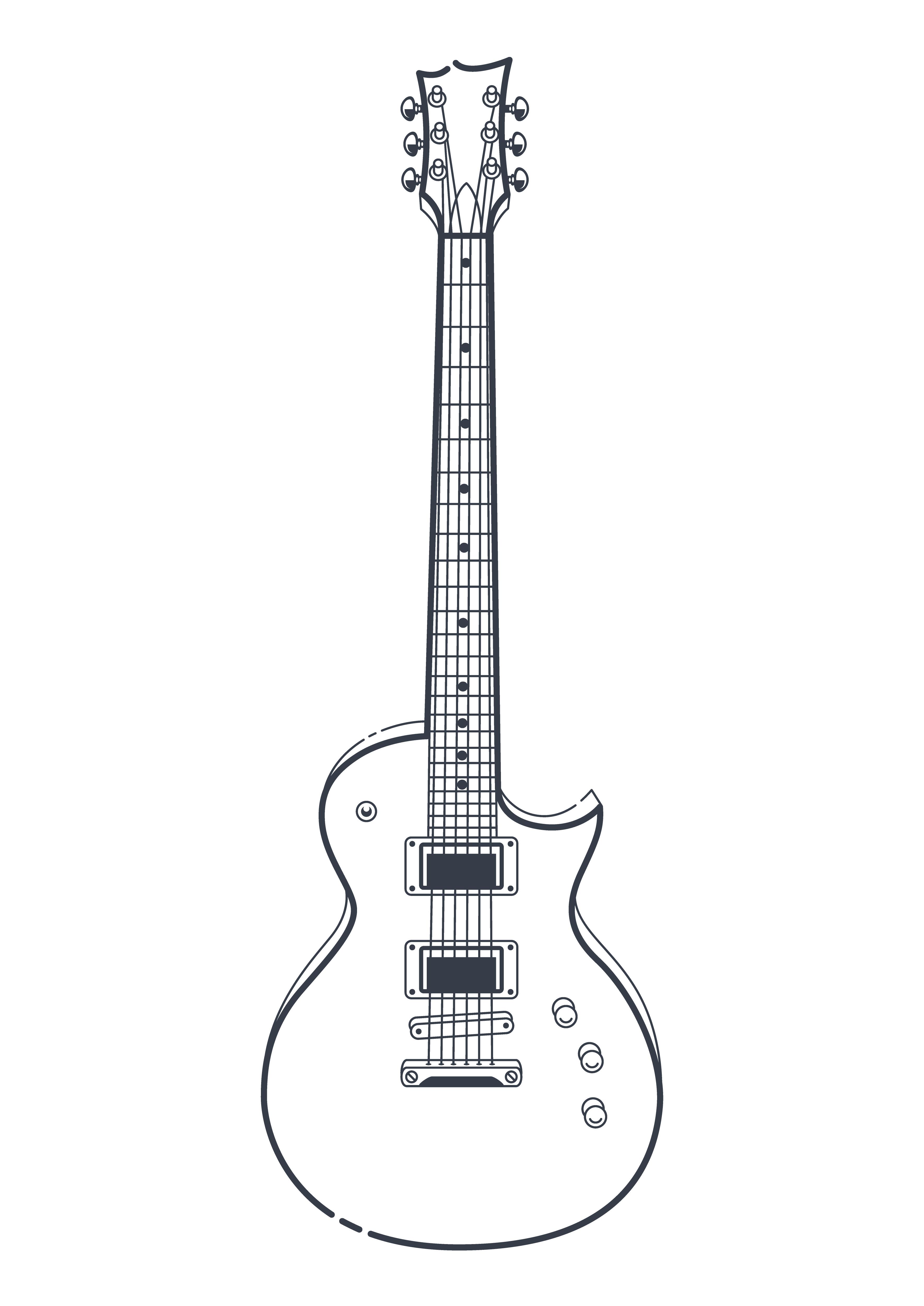 Electric Guitar Vector Download Free Vector Art Stock