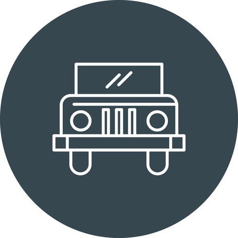 Icône de jeep de vecteur