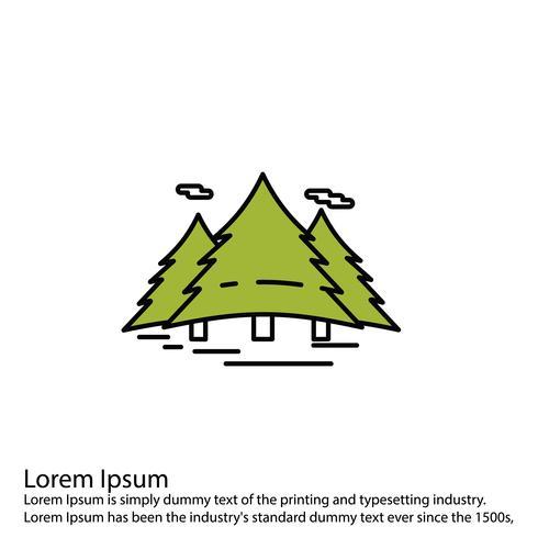 Icône de forêt de vecteur