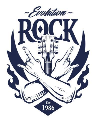Rock Emblem Vector Art