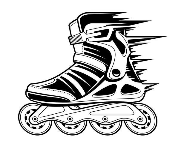 Inline Roller Skate in Motion vector